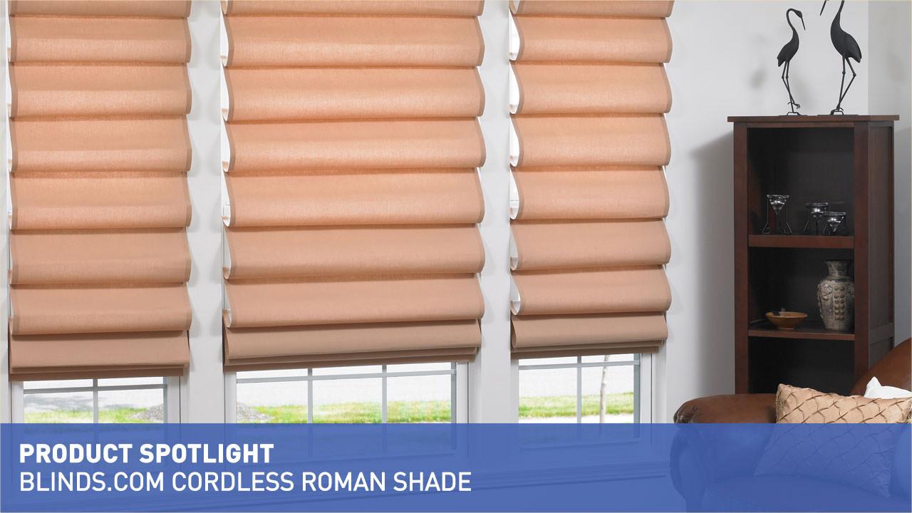 Cordless Roman Shade Product Spotlight Blindscom Video Gallery