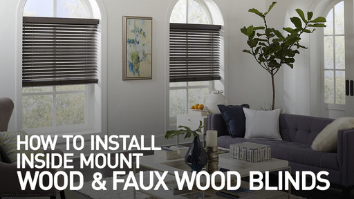 Video Home How To Install Wood And Faux Blinds Inside Mount