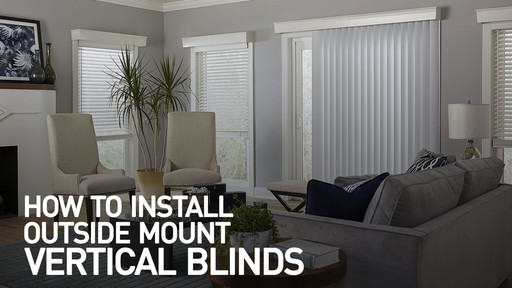 How To Install Vertical Blinds Video  Outside Mount U0026raquo; InstOMBlindVert    Blinds.com Video Gallery