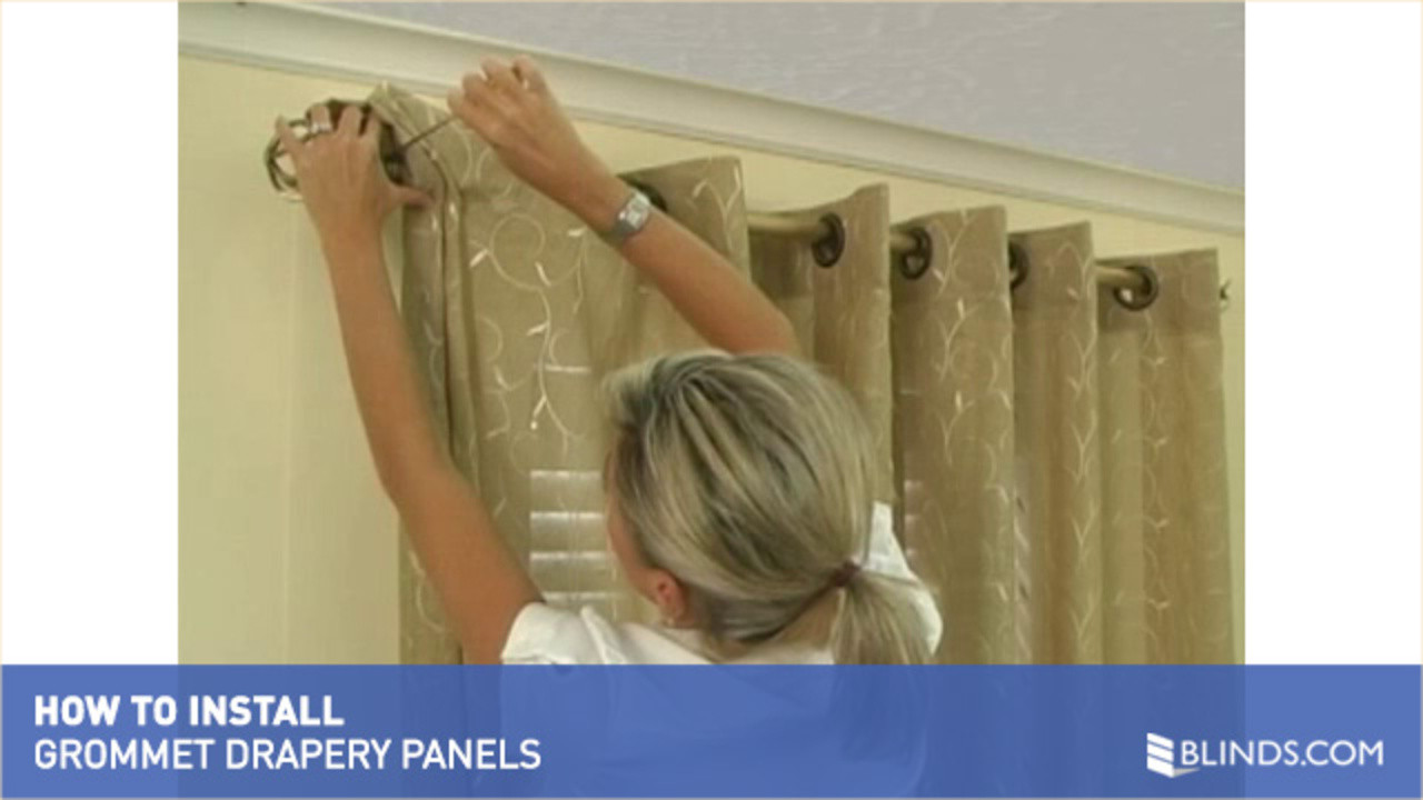 How To Install Window Drapes Video