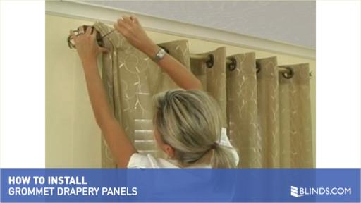 How To Install Window Drapes Video Grommet Drapery Panels Raquo