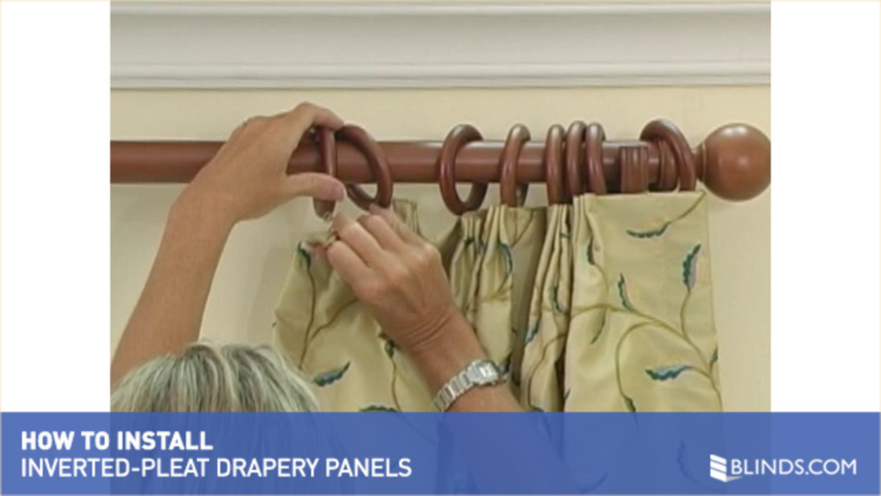how to install window drapes video inverted pleat curtains