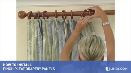 How To Install Pinch Pleat Drapery Panels Raquo Instdrppinchpleat Blinds Video Gallery