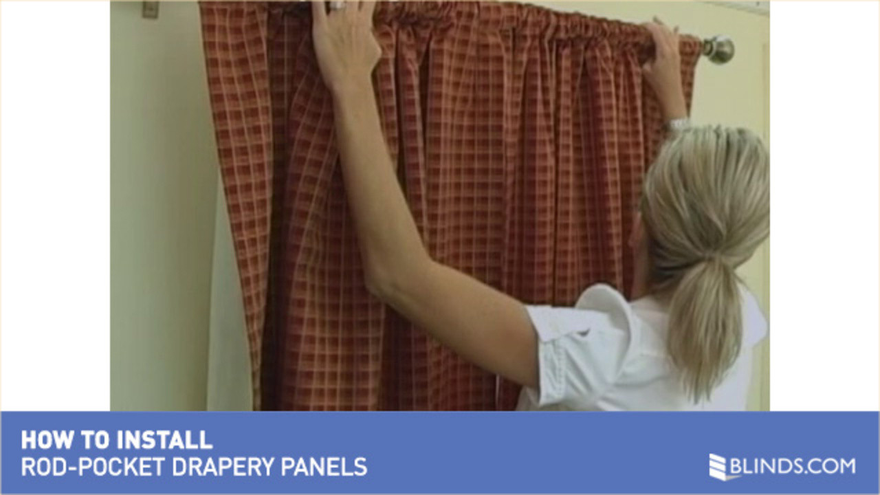 How To Install Drapery Panels Video