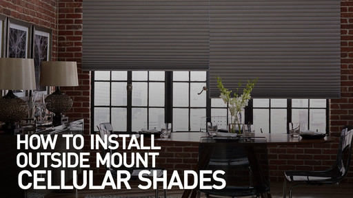 How To Install Cellular Shades Outside Mount Raquo Instomshadecell Blinds Video Gallery
