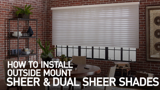How To Install Sheer Horizontal Shades Outside Mount Raquo Instomshadehorsheer Blinds Video Gallery