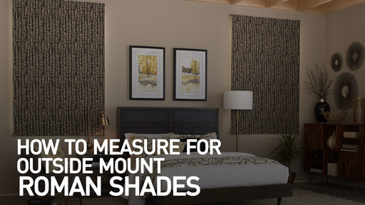 How To Measure For Outside Mount Roman Shades U0026raquo; MeasOMShadeRoman    Blinds.com Video Gallery