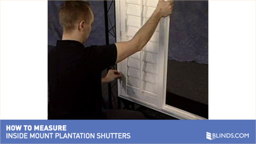How to measure for inside mount plantation shutters raquo