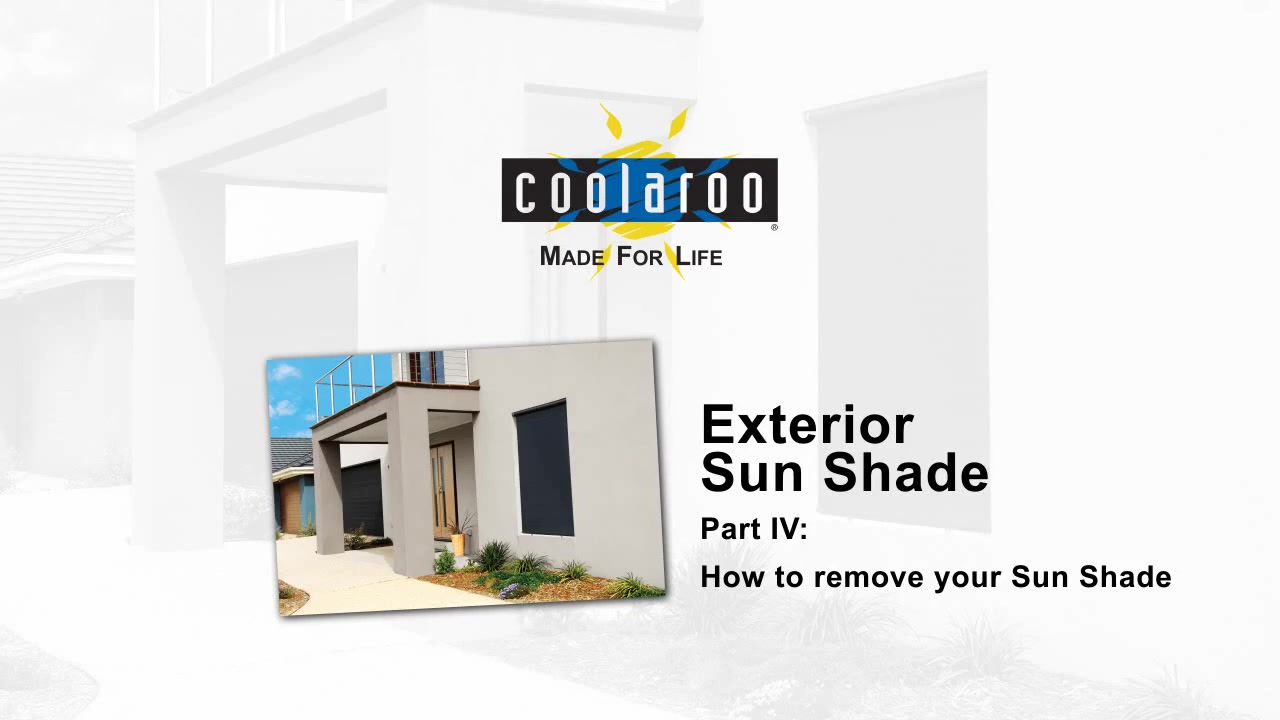 Coolaroo Exterior Sun Shade Removal - American Blinds Video Gallery