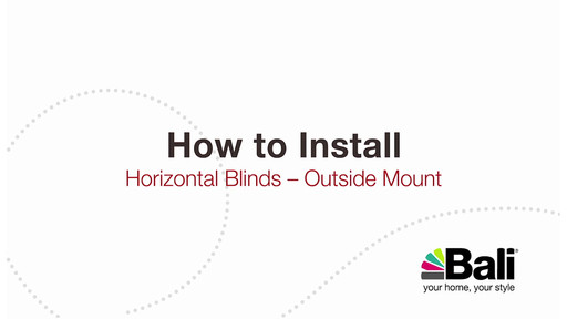 how to hang mini blinds how to install bali inch aluminum mini blinds outside mount american video gallery