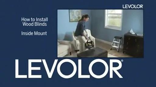 installing levolor blinds inside mount