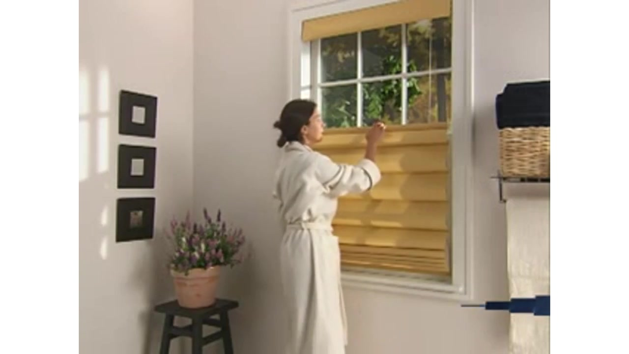 levolor fabric roman shades with cordless top downbottom up american blinds video gallery