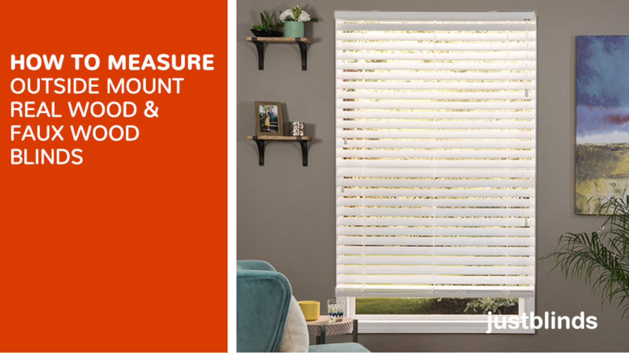 How to Measure for Outside Mount Wood Faux Wood Blinds