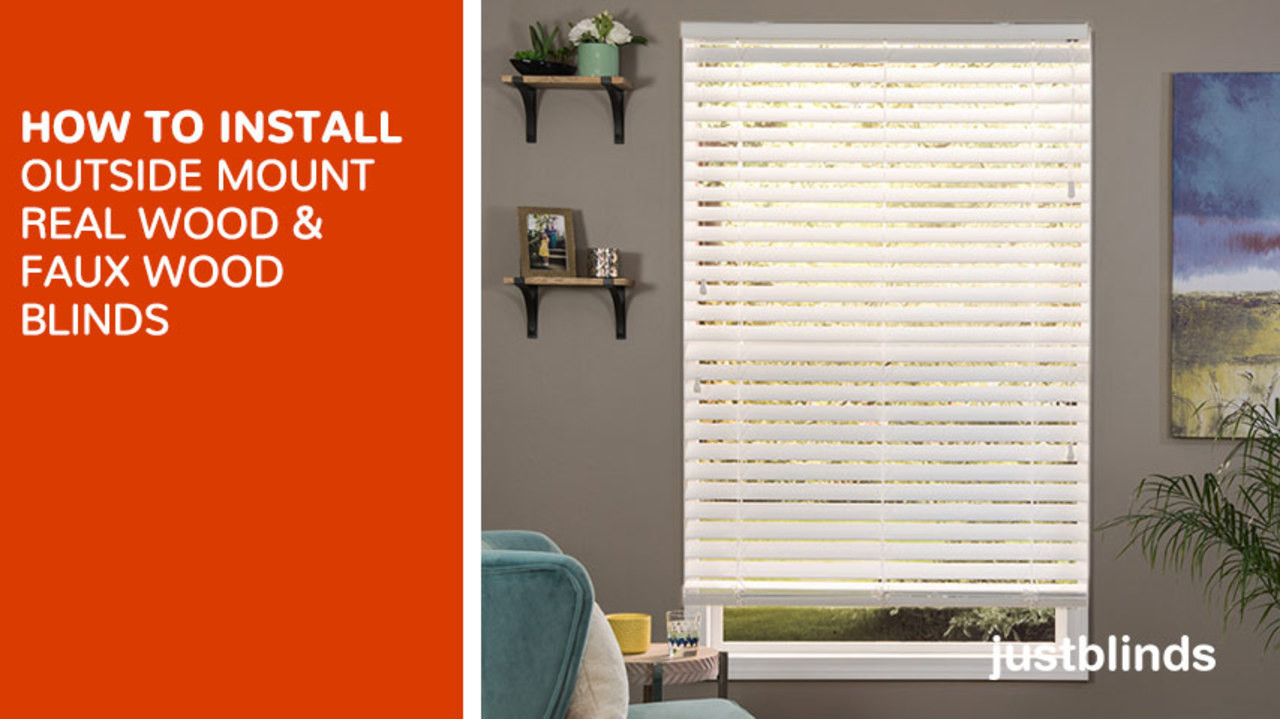 How to install outside mount wood and fauxwood blinds justblinds how to install outside mount wood and fauxwood blinds justblinds video gallery solutioingenieria Images