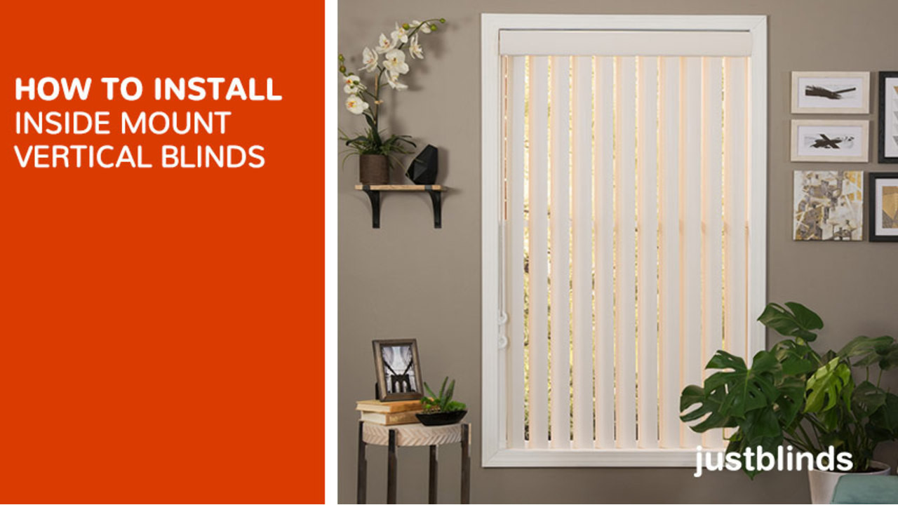 How To Install Inside Mount Vertical Blinds   Justblinds.com Video Gallery