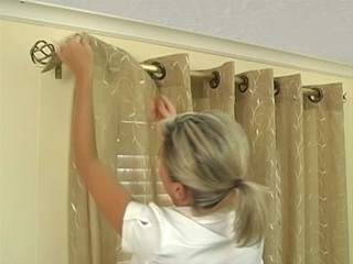 how to install grommet drapery panels