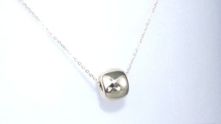Zales Polished Single Bead Pendant in 14K Gold OIzGnD1