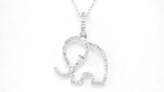 Diamond outline elephant pendant in 10k white gold womens size video diamond outline elephant pendant in 10k white gold womens size regular zales 18 aloadofball Images