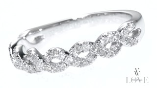 T W Diamond Braided Wedding Band In 14k Mouse Over The Image To Zoom Or Click Here View Larger