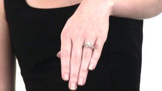 0e38a9ea904e Video  Diamond Cluster Frame Ring in 10K White Gold 1 3 CT. T.W. composite