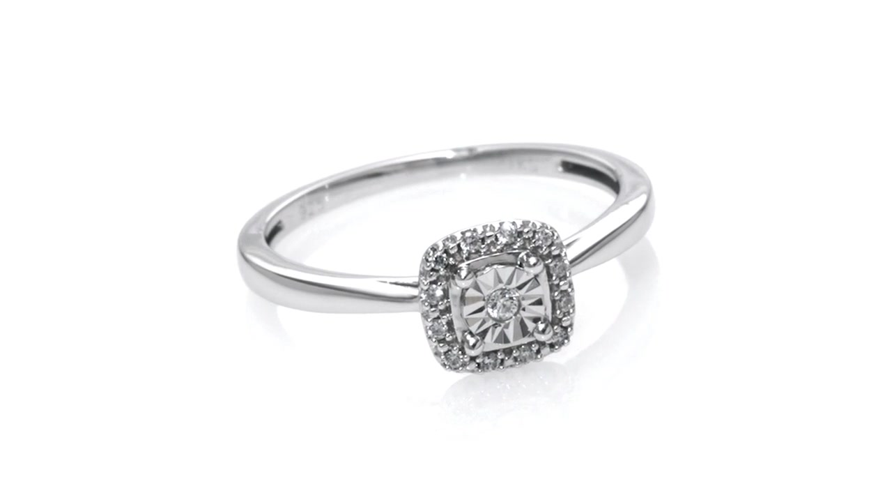 Zales Cherished Promise Collection Diamond Accent Square Frame Promise Ring in Sterling Silver mYK7BIv