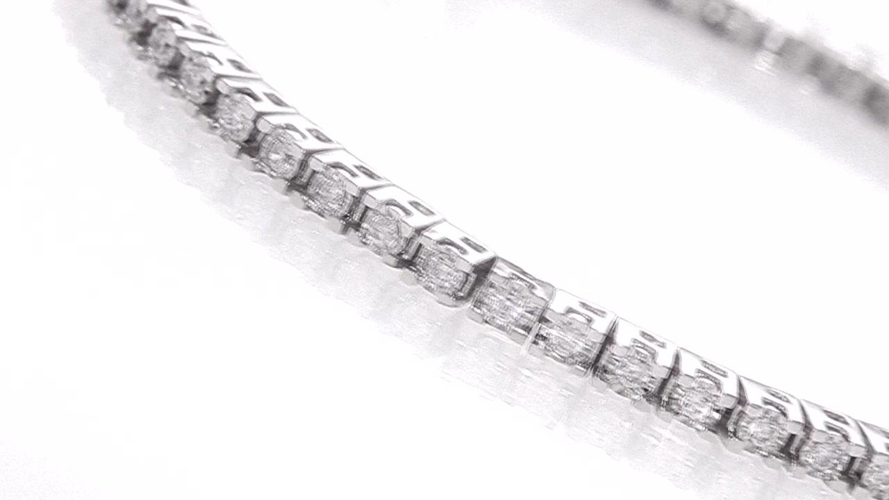 Diamond Tennis Bracelet in Sterling Silver 1-1/2 CT  T W