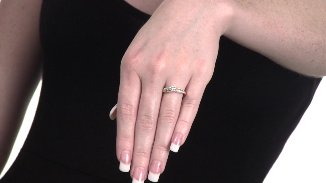 Diamond Quad Swirl Promise Ring in 10K Gold 1/6 CT. T.W. » Shop ...