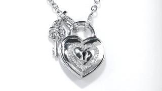 Zales Heart-Shaped Lock Charm Pendant in Sterling Silver VijL9