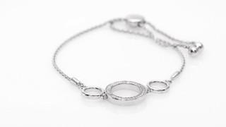 Zales Diamond Accent Triple Circle Bolo Bracelet in Sterling Silver - 9.5 dByVEgXMv