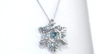 3a7dd721142b76 Video: Swiss Blue Topaz Snowflake Pendant in Sterling Silver, Women's,  Size: regular ZALES Unstoppable Love 4.5mm