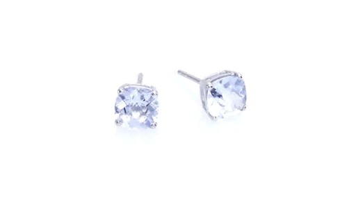 Small .25 Carat Blue Stone Magnetic Clip On Magnetic Studs 4mm Sapphire Blue Gemstone Royal Blue Lab Spinel Sterling Silver Non-pierced