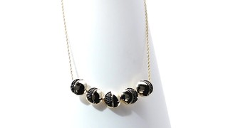 Zales 1/6 CT. T.w. Enhanced Black Diamond Moon Phase Necklace in Sterling Silver and 14K Gold Plate - 16 Cijm6k97