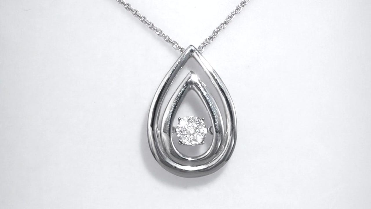 Zales Unstoppable Love Composite Diamond Accent Swirl Pendant in Sterling Silver q7e6GB2