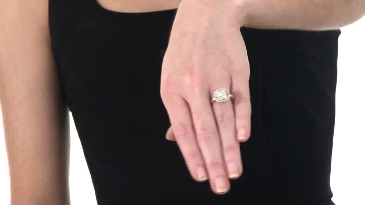 Diamond Cluster Frame Ring in 10K Gold 1/2 CT. T.W. fashion » Shop ...