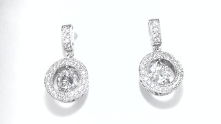 Zales Lab-Created White Sapphire Art Deco Drop Earrings in Sterling Silver aqJgMBk92