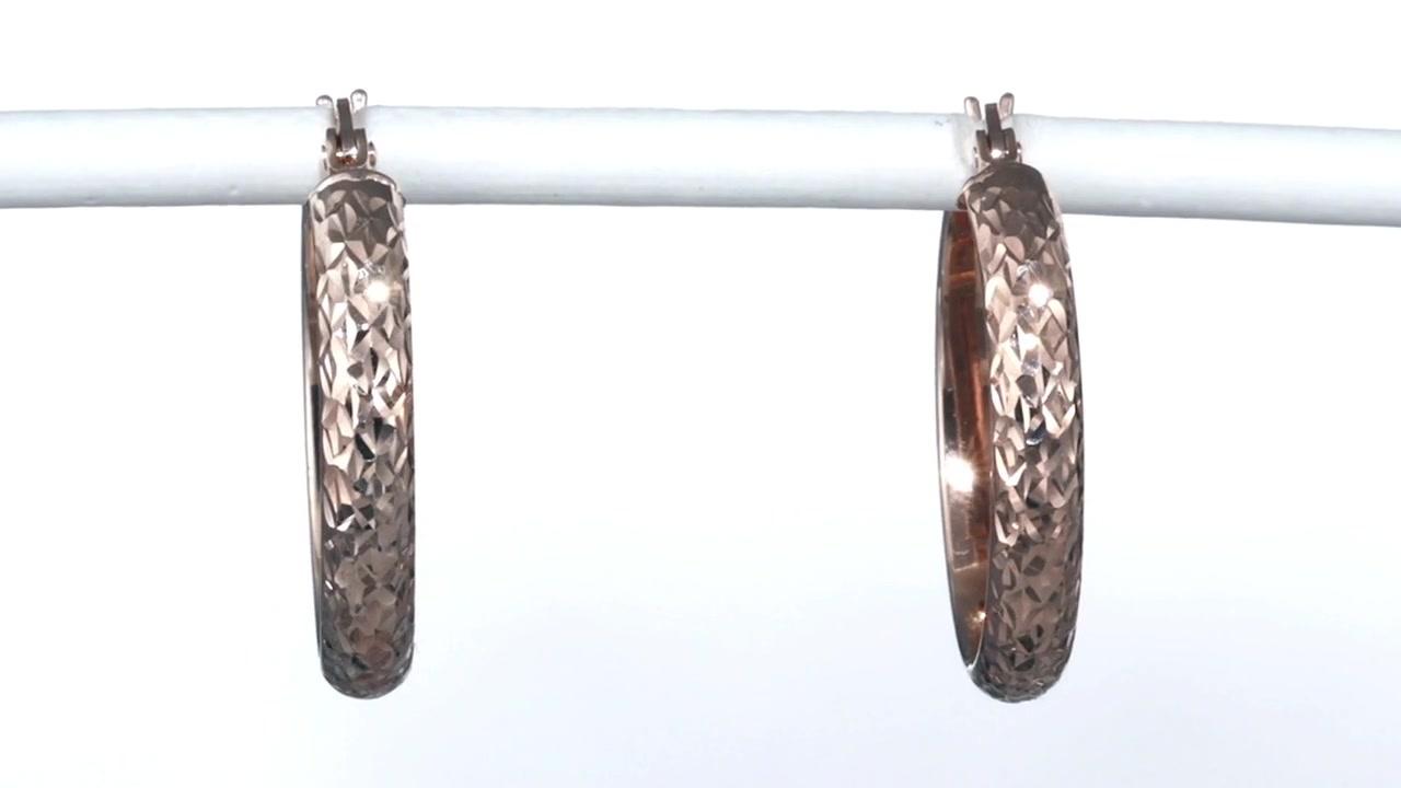 Zales Diamondcut Hoop Earrings In 14k Rose Gold, Women's, Size: Regular »  Shop Zales  America's Diamond Store Since 1924  For The Best Jewelry  Selection