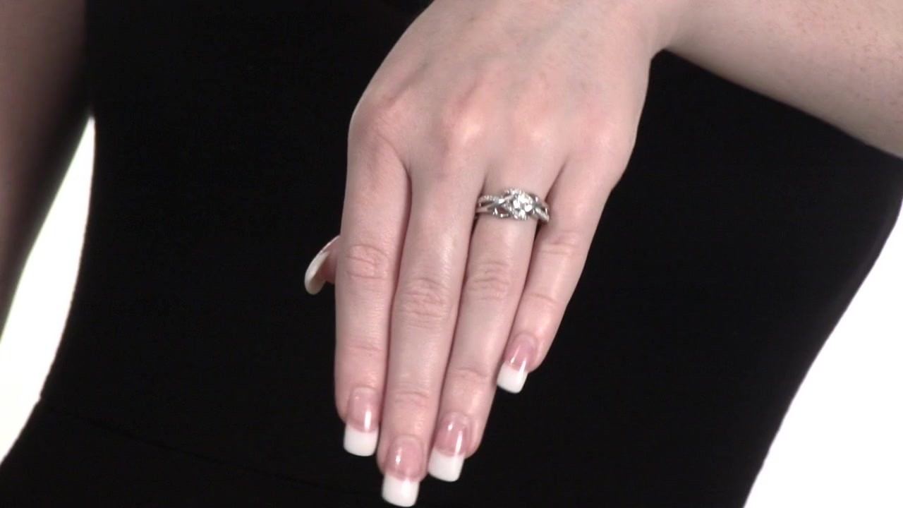 Diamond Woven Promise Ring in Sterling Silver 1/5 CT. T.W. » Shop ...