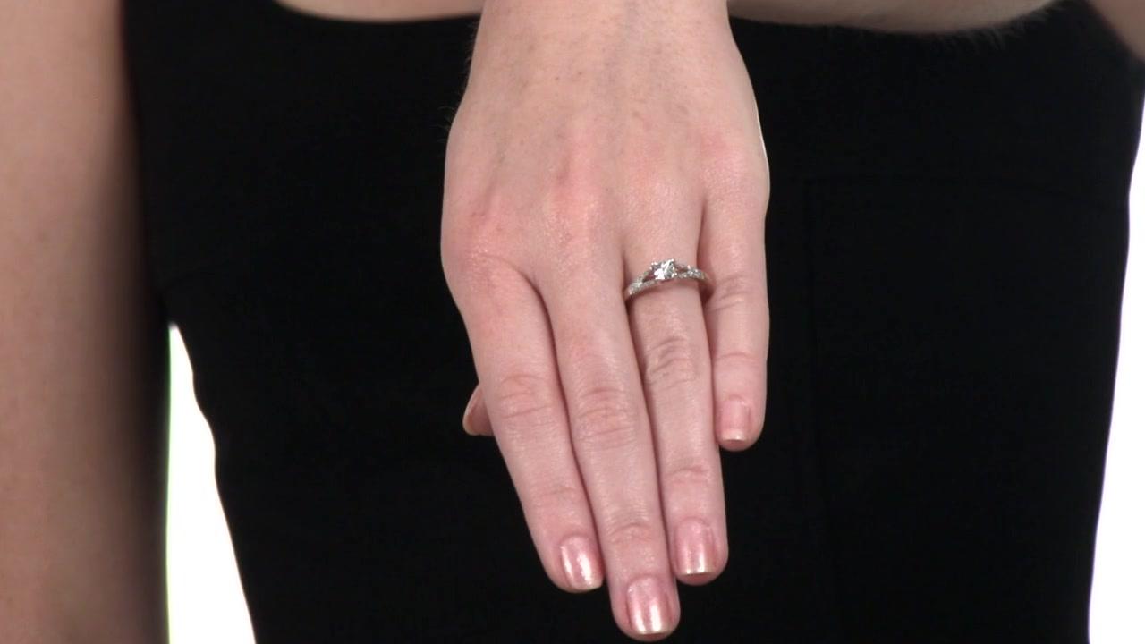 Zales Diamond Accent Promise Ring in 10K Rose Gold hWG9SZUc