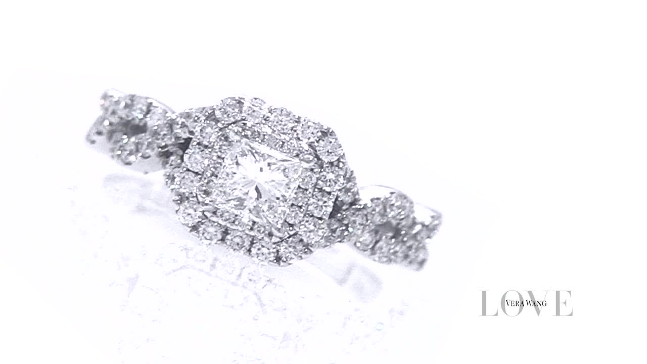 Vera Wang Love Collection 1 CT. T.W. Princess-Cut Diamond Double ...