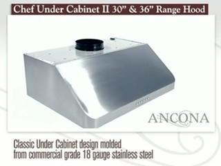 Ancona Advanta Chef II – 36 & 30 Under-cabinet Range Hood Top ...