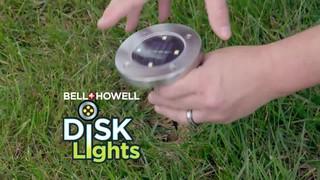 As Seen On TV Bell & Howell Outdoor Solar Disk Lights