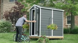 Suncast Vista® Resin Storage Shed, 7-ft x 7-ft