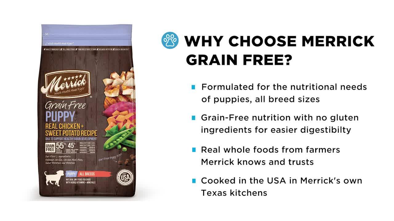 Merrick grain free puppy food video gallery forumfinder Gallery