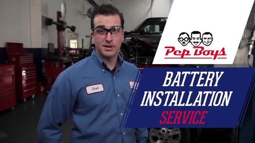 Pep Boys Battery Install Service