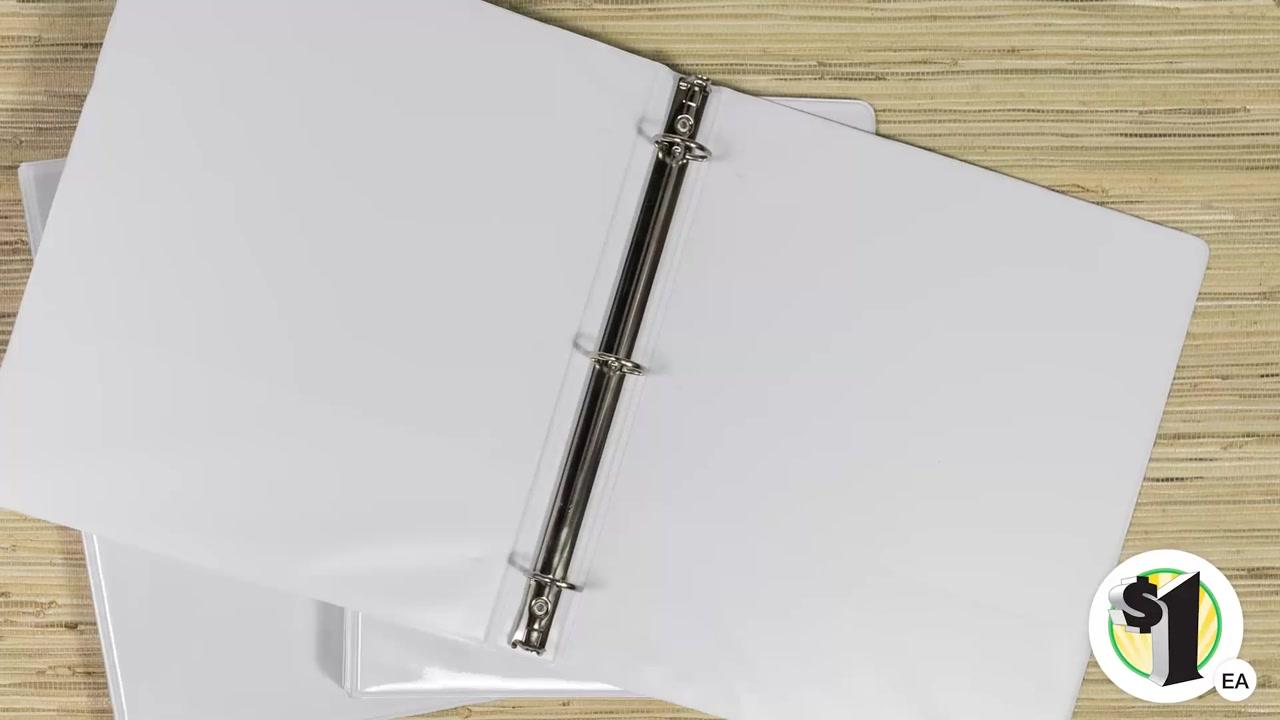 Dollar Tree, Inc.: Jot™ Clear View 3-Ring Binders