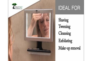 toilettree led fogless shower mirror with squeegee
