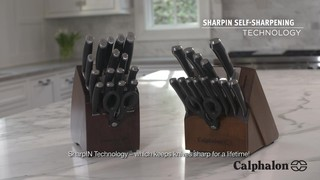 calphalon® contemporary self-sharpening 18-piece cutlery set with