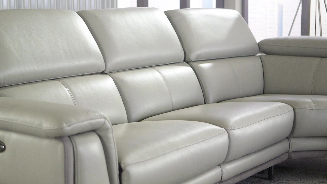: leather power reclining sectional - Sectionals, Sofas & Couches