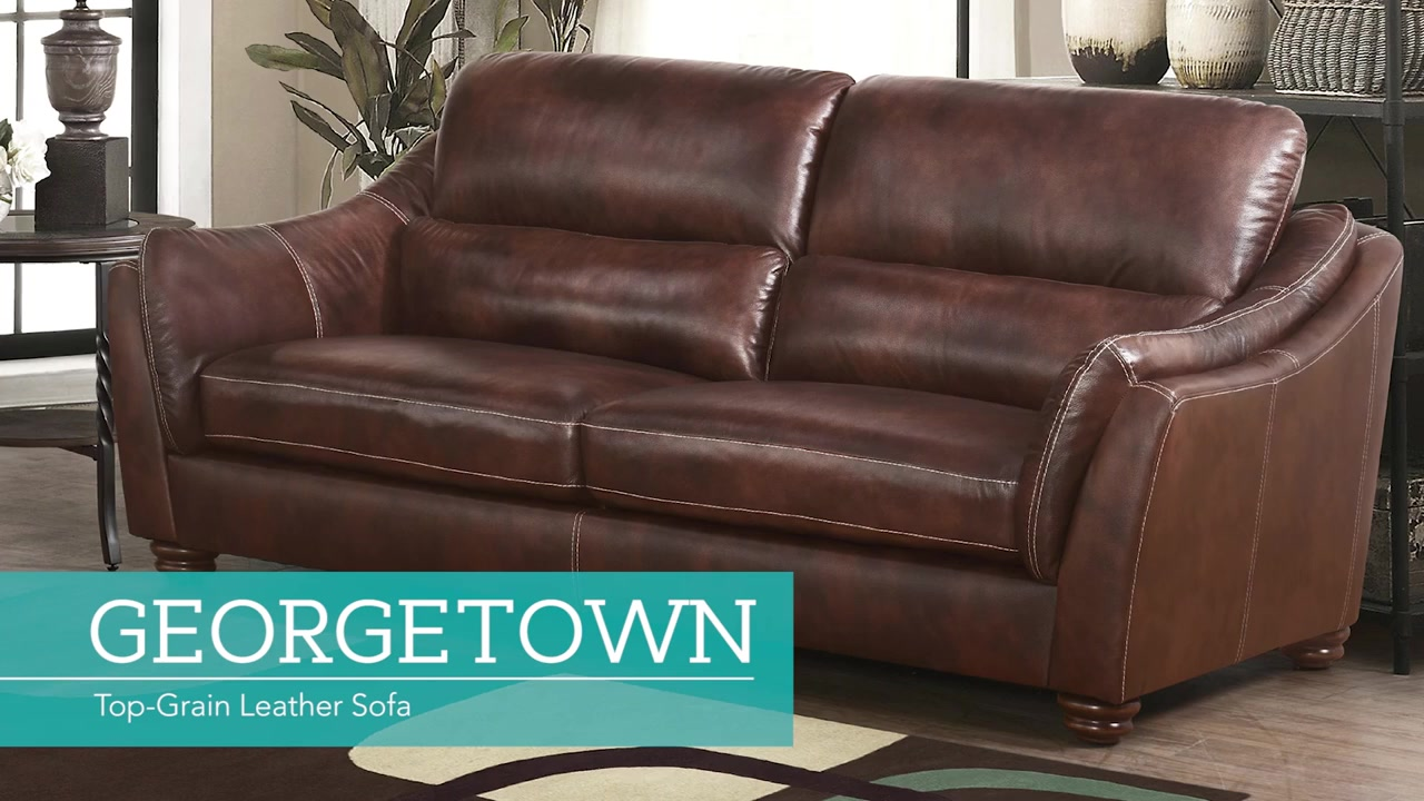 Geor own Top Grain Leather Sofa Video Gallery
