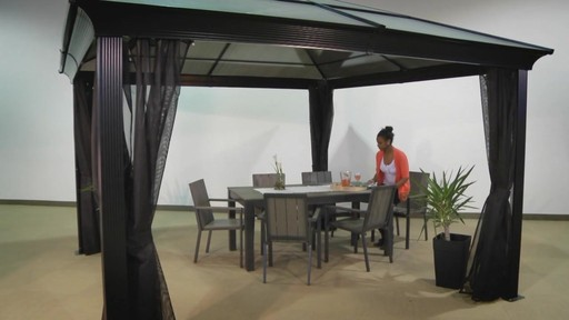 Sedona Hard Top Sun Shelters With Mosquito Netting Option U0026raquo; Sojag    Patio   Lawn   Video Gallery